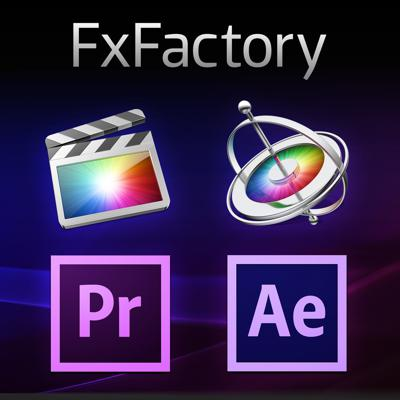 Hot tutorials of motion graphics and visual effects in Final Cut Pro, Motion and After Effects using FxFactory from Noise Industries.