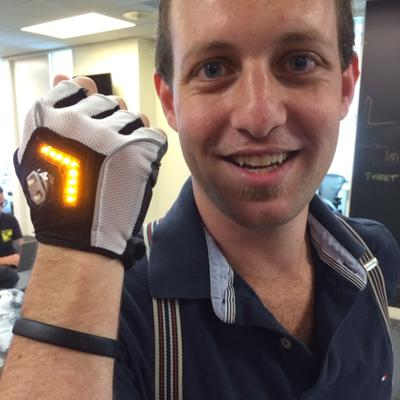 Cover art for Zackees Bicycle Gloves Are Cool Signaling. Wearable Tech Coming. @perpetualmaniac Showing Me The Future. at Wearable World Headquarters