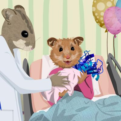 Cover art for Episode #14 - These hamsters have birthed billions for biotech