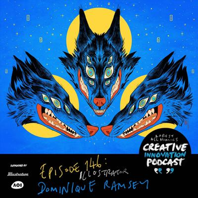 Cover art for Ep 146: Illustrator Dominique Ramsey's stunning, vibrant artworks, animals, Pokemon and more