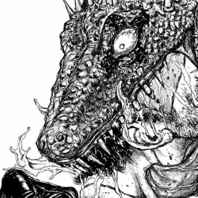 Cover art for Dorohedoro, with Emma Bowers