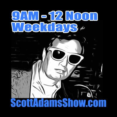 Scott Adams Show airs LIVE weekdays at RedStateTalkRadio.com at 8am EST, and is nationally syndicated from 9am-12noon EST on terrestrial stations throught America using the same syndicated clock as Laura Ingraham. Visit ScottAdamsShow.com for details.