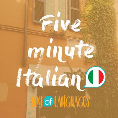 Where's the toilet? Two coffees please! How much is it? Join Katie and Matteo for 5 minute Italian, a fun podcast which teaches you the basics in bite-sized pieces.