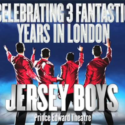 Cover art for Happy Birthday Jersey Boys - celebrating 3 fantastic years in London