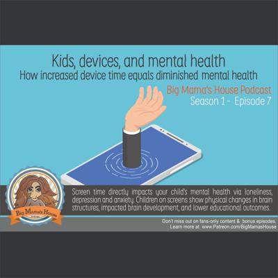 Cover art for Kids, Mental Health, & Devices : increased device time equals diminished mental health