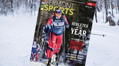 Cover art for #10: Vermont Ski + Ride and Vermont Sports Co-Publisher and Editor Lisa Lynn