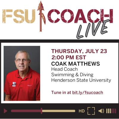 Cover art for Interview with Coak Matthews, Head Coach of Swimming & Diving, Henderson State University