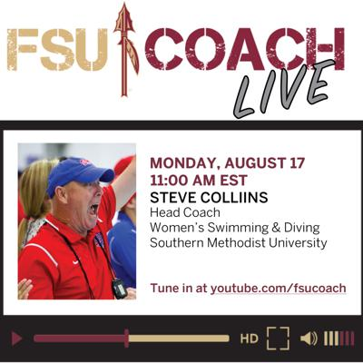 Cover art for Interview with Steve Collins, Head Coach of Women's Swimming & Dividing, SMU