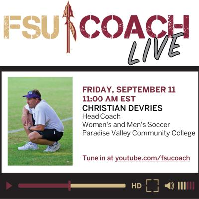 Cover art for Interview with Christian DeVries, Head Coach of Women's and Men's Soccer, Paradise Valley CC