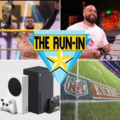 Cover art for Finn Is Champ Again, Huge Week For AEW, XBox chat, Walking Dead is Ending, NFL Kickoff Talk, and more!
