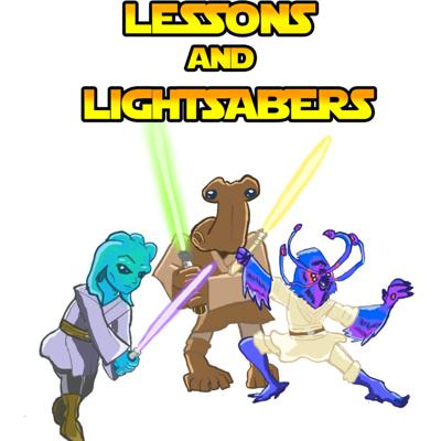 Cover art for Lessons and Lightsabers Season 2 Episode 7 - Mysterious Strangers and How to Pack a Ship