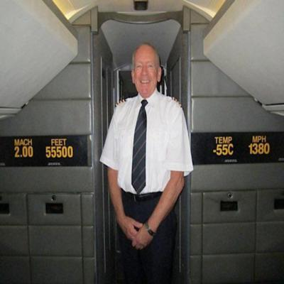 Cover art for Former Concorde Pilot Tony Yule talks on Supersonic Air Travel