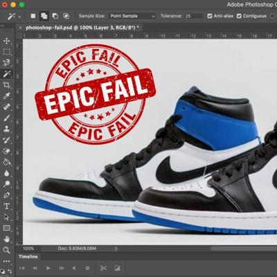 Cover art for Photoshopping Your Way To SNEAKER Fame...or not