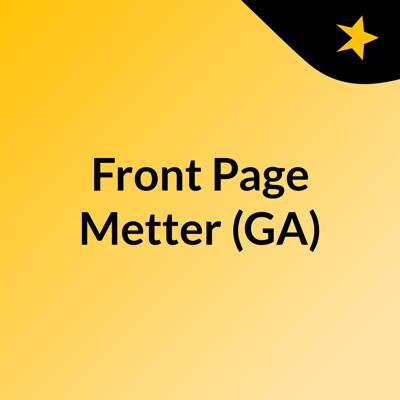 Front Page Metter (GA)