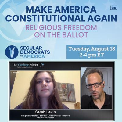 Cover art for Make America Constitutional Again (with Sarah Levin)