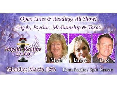 Cover art for OPEN LINES! …and Psychic, Angel, Medium & Tarot Readings!