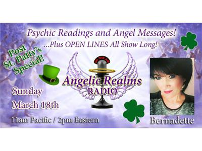 Cover art for St. Patrick's OPEN LINES! Angel Messages, Psychic Readings, and More!