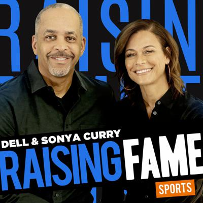 """Hosted by beloved NBA parents Sonya and Dell Curry, Raising Fame: Sports Edition reveals the amazing childhood backstories of your favorite sports icons. The Currys interview the people who raised these sports legends into the idols they are today. Parents. Stepparents. Grandparents. Adoptive parents. We take you back to when Tom Brady the GOAT was just """"Tommy"""" and not getting a single snap at QB; when Shaquille O'Neal was the unexpected newborn of a strong but scared teen mother; when Steph Curry was still hoisting his shot from his waist; when Megan Rapinoe was wearing angel wings on Halloween; and when Michael Phelps was getting kicked out of the pool for misbehaving. Hear the unforgettable stories of these iconic athletes' childhoods. How they were raised. The highs and lows of their paths to glory. Incredible tales shared by the people who helped shape them into the superstars you know and love."""