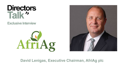 Cover art for David Lenigas Executive Chairman of Afriag plc on bluechip contract win