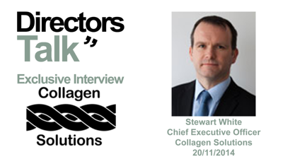 Cover art for Stewart White CEO of Collagen Solutions expects a valuation 100 million pounds by 2020