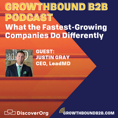 Cover art for Getting Growthbound with Justin Gray - What the world's fastest companies do differently.