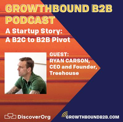 Cover art for A Startup Story that includes a B2C to B2B Pivot