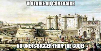 Cover art for Episode 48: Voltaire Au Contraire (No one is bigger than the CODE!)