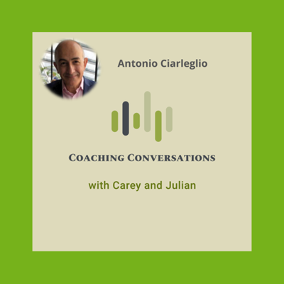 Cover art for Episode 34: Interview with Antonio Ciarleglio, who is a global talent acquisition specialist.