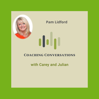 Cover art for Episode 36 with Pam Lidford who is a confidence coach and trainer.