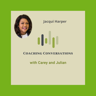Cover art for Episode 30: Interview with Jacqui Harper, who is a presence expert helping business speakers soar and companies grow.