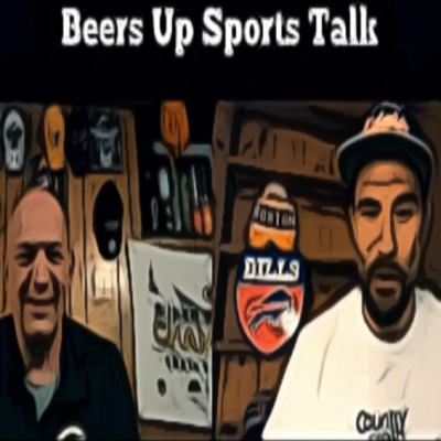 Cebo and Debo drinking beers and talking sports, sometimes not in that order.
