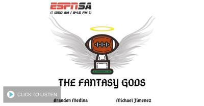 Cover art for 8/2/20 Fantasy Gods with Brandon Medina @BigPapiBrandonM and Michael Jimenez @Ginobili4ever