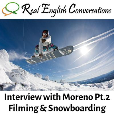 Cover art for English Interview (51): Snowboarding & Filming | Advanced English Conversations