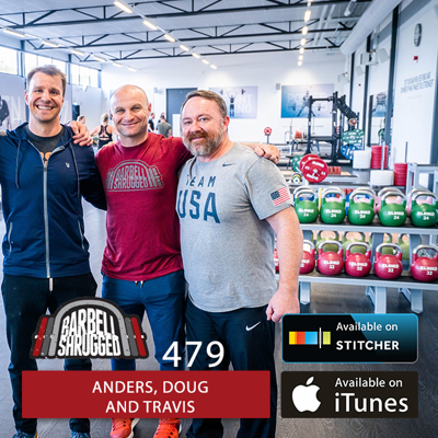 Cover art for Build a Thick Core and Eliminate Imbalances with Strongman Training w/ Anders Varner, and Doug Larson, and Travis Mash - Barbell Shrugged - #479