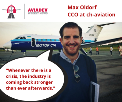 Cover art for Episode 65: Max Oldorf injecting some positivity into to the aviation world devastated by Covid19