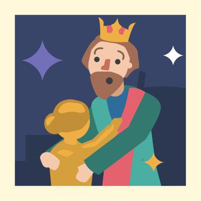 Cover art for Teach Wisdom with this Greek Myth - Storytelling Podcast for Kids- King Midas and the Golden Touch:E90