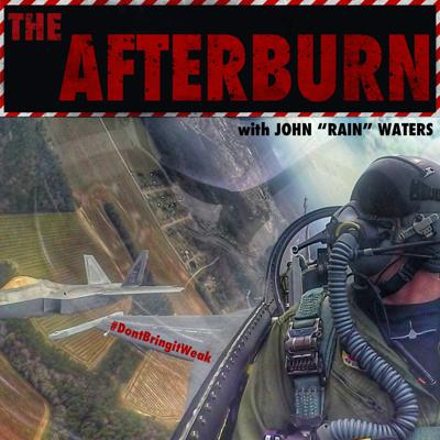 """Former U.S. Air Force F-16 fighter pilot John """"Rain"""" Waters hosts The Afterburn Podcast here on Warbird Radio. Be sure to subscribe and never miss a minute as """"Rain"""" brings together people from various walks of life to tell their stories, their struggles, and what it took for them to achieve success!   About the Host: John got his start flying a C-152 with a Texas tailwheel conversion during high school. His first flight was on September 10th, 2001. The events of the following day propelled him on a path to serve his country. John was fortunate to be able to serve his country and pursue his passion for aviation in the U.S. Air Force.  While in the Air Force John served as a T-6II First Assignment Instructor Pilot, an MC-12 (King Air 350) pilot and mission commander, and ultimately an F-16 pilot. During his time in the Air Force, John amassed over 2,700 flying hours. Over 960 combat hours conducting 128 combat missions during Operation Enduring Freedom and Operation Inherent Resolve. John's final flying assignment in the Air Force was the commander and pilot for the Air Combat Command's F-16 Viper Demo team. During his time on the demo team, John flew over 300 demonstration sorties, across 50 show sites, in 5 countries.  John has traded in his 28,000 pound F-16 for a 766,000 pound Boeing 777 as he begins to pursue a career in civilian aviation. He continues to chase his passion for aviation in the general aviation community."""