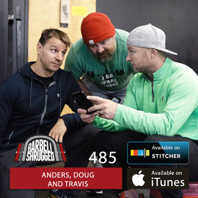 Cover art for EMOM Aesthetics: Hypertrophy Training to get Jacked, Lean, and Athletic w/ Anders Varner, and Doug Larson  - Barbell Shrugged  #485