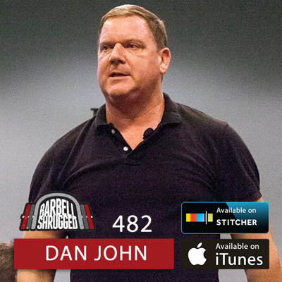 Cover art for The Single Thing That Makes the Squat the Most Effective Exercise for Strength w/ Dan John, Anders Varner, and Doug Larson, and Travis Mash - Barbell Shrugged- #482