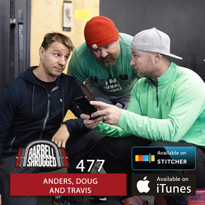 Cover art for Why the Front Squat is Superior to the Back Squat in Training  w/ Anders Varner, Doug Larson, and Travis Mash - Barbell Shrugged- #477