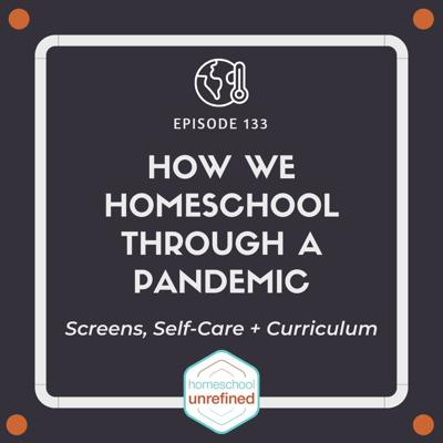 Cover art for 133: How We Homeschool Through a Pandemic: Screens, Self-Care, Curriculum