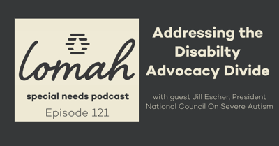 Cover art for #121 - Addressing the Disability Advocacy Divide