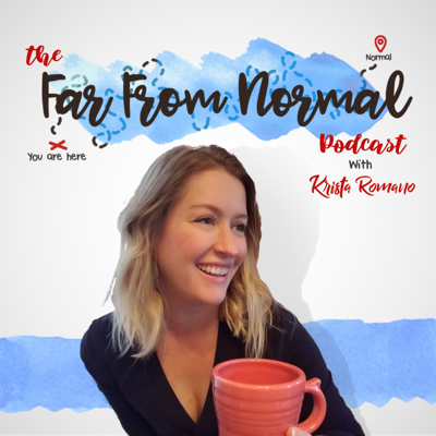 The Far From Normal Podcast is hosted by blogger and mom to 3 boys, Krista Romano. Everyone's motherhood journey is different and we all have to find what works best for our families even if it doesn't look like what everyone else is doing. Each week we'll bring you conversations aimed at inspiring, encouraging, and celebrating motherhood & life lived happily outside the box.