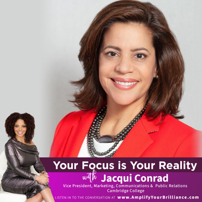 Cover art for S3E14: Your Focus is Your Reality with Jacqui Conrad