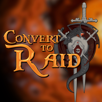 Convert to Raid is the podcast for raiders in World of Warcraft!  Our panel of avid players will talk about the latest buzz in the game and how it affects the end game.