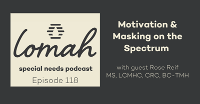Cover art for #118 - Motivation & Masking on the Spectrum